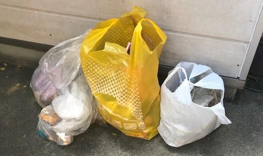 大野海岸で拾われたゴミ
