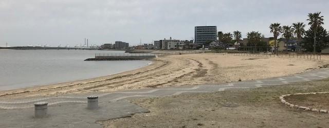 大野海岸の砂浜