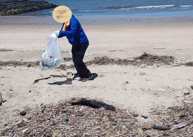 大野海岸清掃風景